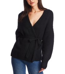 1.state belted long-sleeve cardigan sweater