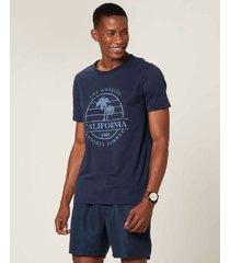 camiseta tradicional califórnia malwee azul escuro - pp
