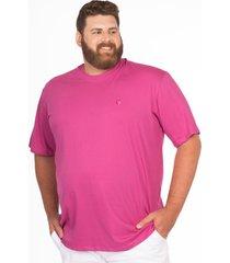 camiseta longford gola careca plus size - rosa - masculino - dafiti