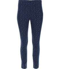pantalon cigarette flores color azul, talla 10