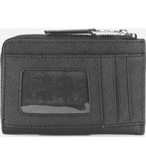 karl lagerfeld women's k/ikonik zip card holder - black