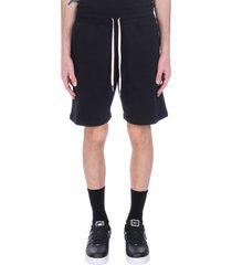 john elliott shorts in black cotton