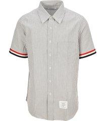 thom browne seersucker stripe short sleeve shirt