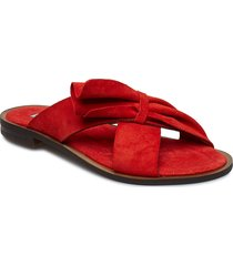 half botie flat sandal shoes summer shoes flat sandals röd apair