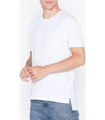 selected homme slhheat ss o-neck tee b ka t-shirts & linnen vit