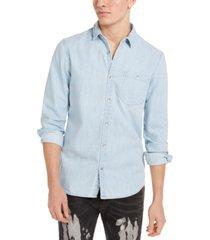 inc men's taylor denim shirt, created for macy's