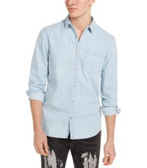 inc men's taylor denim shirt, created for macy's