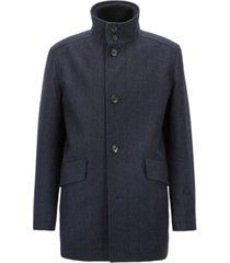 boss men's relaxed-fit herringbone car coat