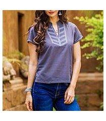 cotton blouse, 'thai journey' (thailand)