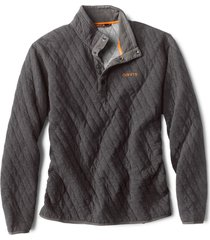 outdoor quilted snap sweatshirt, black, medium