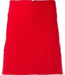 courrèges curved pocket skirt - red