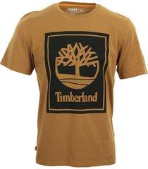 t-shirt korte mouw timberland stack logo tee