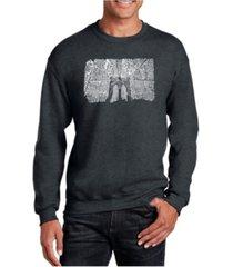 la pop art men's word art brooklyn bridge crewneck sweatshirt