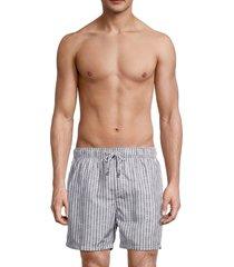 vintage summer men's stripe swim shorts - grey - size s