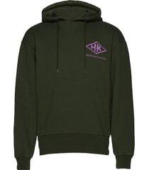 bulky hoodie hoodie trui groen han kjøbenhavn