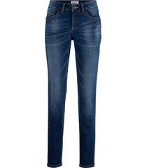 fodrade jeans med mjuk insida, raka ben