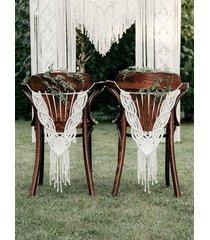 dekoracja na krzesło / makrama na krzesło