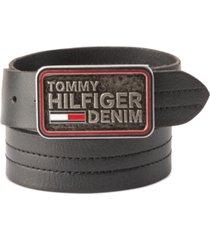 tommy hilfiger denim men's plaque buckle belt