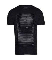 camiseta masculina flamê linhas denim brand marinho