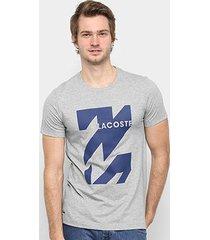 camiseta lacoste graphic logo masculina - masculino