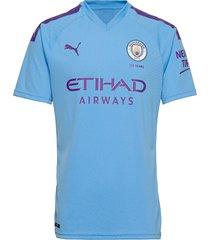 mcfc home shirt replica ss with sponsor logo t-shirts football shirts blå puma