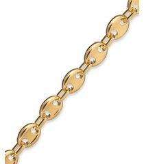 signature gold marine link bracelet in 14k gold over resin