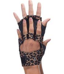 luvas para academia com polegar e protetor palmar oxer - adulto - marrom/preto