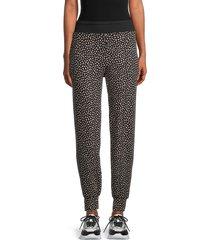 tart women's iris abstract-print joggers - taupe heather - size xl