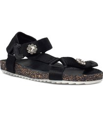 velcro galia sandal shoes summer shoes flat sandals svart becksöndergaard
