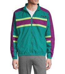 fila men's lifestyle carter colorblock jacket - biscay - size l