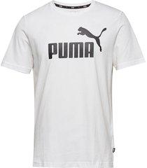 ess logo tee t-shirts short-sleeved vit puma