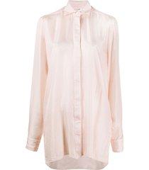 1017 alyx 9sm oversized long sleeve shirt - pink