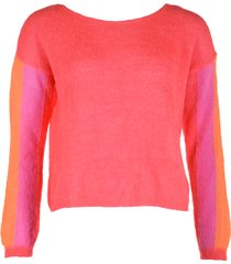 les tricots de lea trui malomya rood