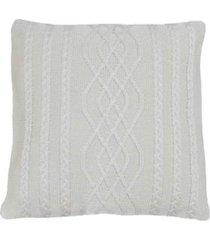 capa almofada tricot 40x40cm c/zãper sofa trico cod 1026 bege - bege - feminino - dafiti