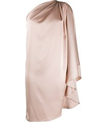 gianluca capannolo one shoulder tunic dress - neutrals