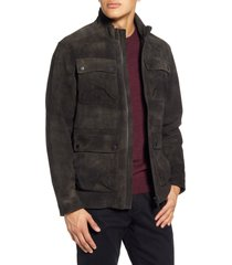 men's rodd & gunn mansfield leather field jacket, size x-large - brown