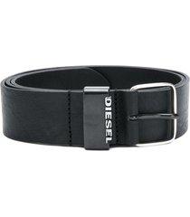 diesel classic logo belt - black