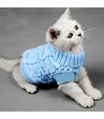 turtleneck pet cats sweater aran pullover knitted doggie kitty clothes solid ...