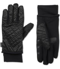 isotoner signature women's sleekheat quilted gloves with smartouch technology
