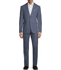 slim-fit twill knit suit