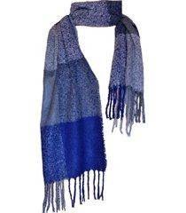 bufanda tartan highlands azul gris viva felicia