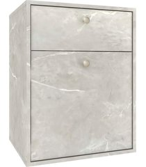 gabinete p/ banheiro sem cuba eva 50cm mb bosi cinza - cinza - dafiti