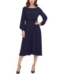 jessica howard petite long-sleeve a-line dress