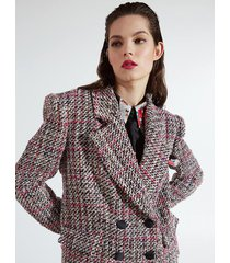 motivi blazer multicolor check xmas edition donna rosa