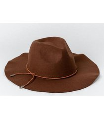 linda floppy fedora hat - brown