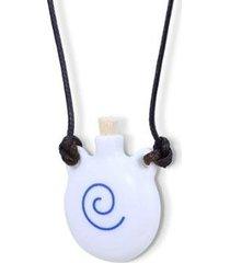 aromatizador pessoal ou porta perfume espiral azul - unissex