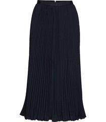 crepe light pleatd midi skirt knälång kjol blå french connection