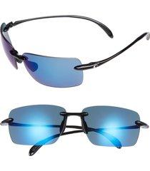 costa del mar gulfshore xl 66mm polarized sunglasses in black/blue mirror at nordstrom