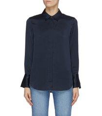 'perfect' button up silk shirt