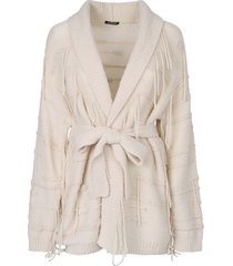 canessa belted cardigan